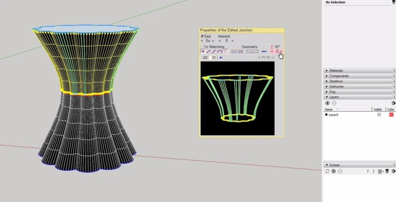 A shape made using Curviloft.