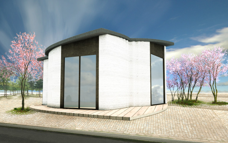 Europe's first 3D printed building, by 3DPrinthuset (in Denmark).