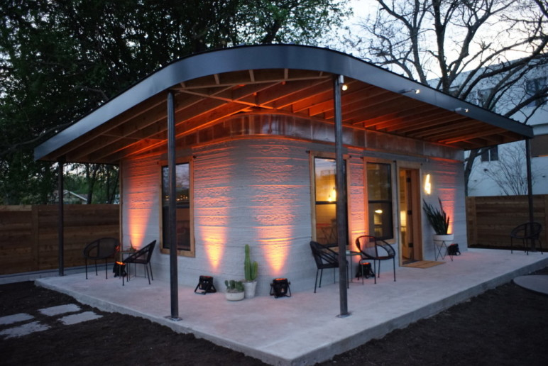 The first fully-permitted 3D printed house in the US.