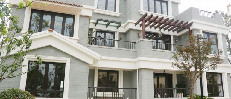 The impressively-large 3D printed Winsun Villa.
