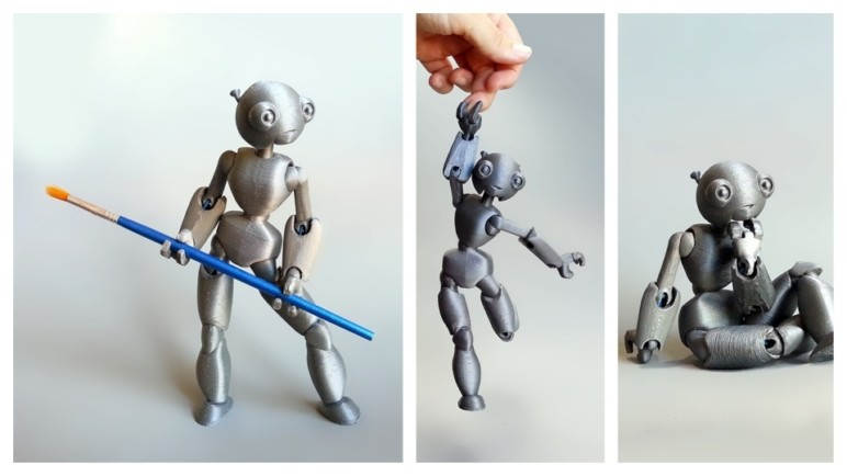 This jointed robot is a model of perfection.