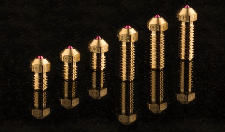 The ultra wear-resistant Olsson ruby nozzle.