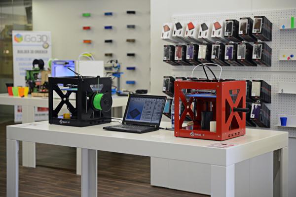A retail 3D print shop.