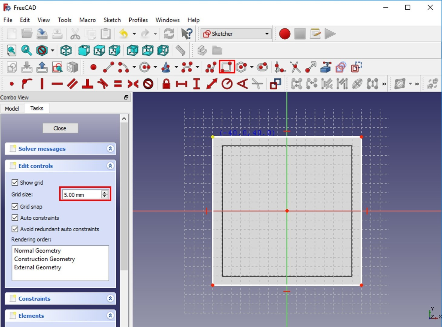 FreeCAD tutorial Rim