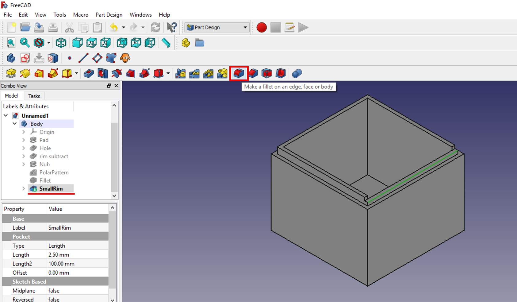 freecad tutorial smallrim