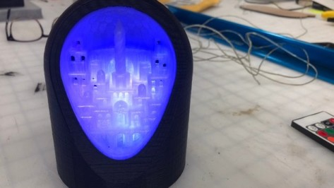 Featured image of Weekend Project: 3D Print This Mesmerizing LED Geode City