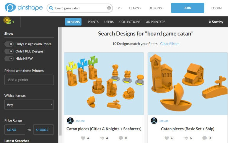 Rely on searching when using Pinshape.