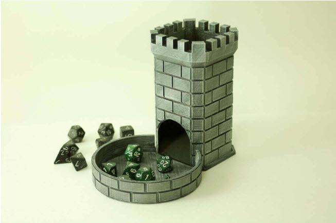 A castle dice tower.