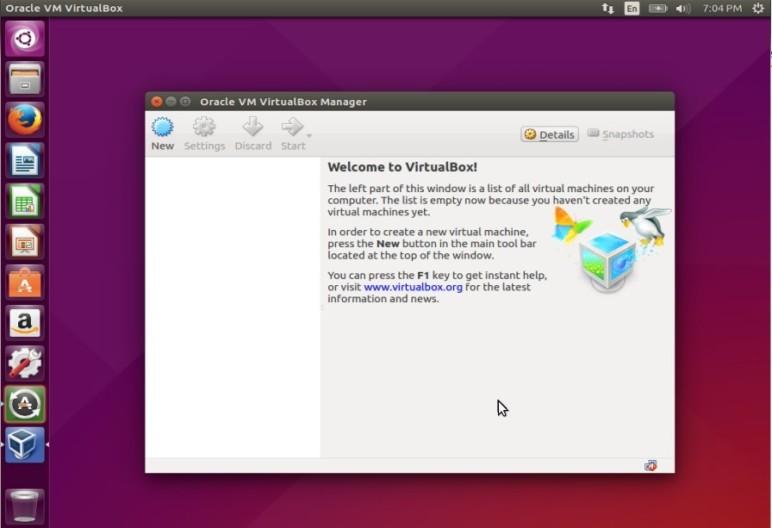 Ubuntu loading Oracle's VirtualBox.