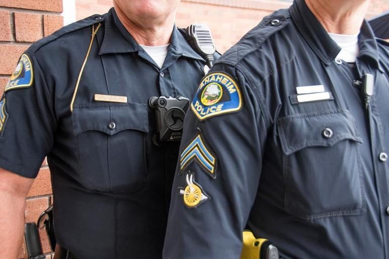 Kevlar shirts worn by Anaheim's police force.
