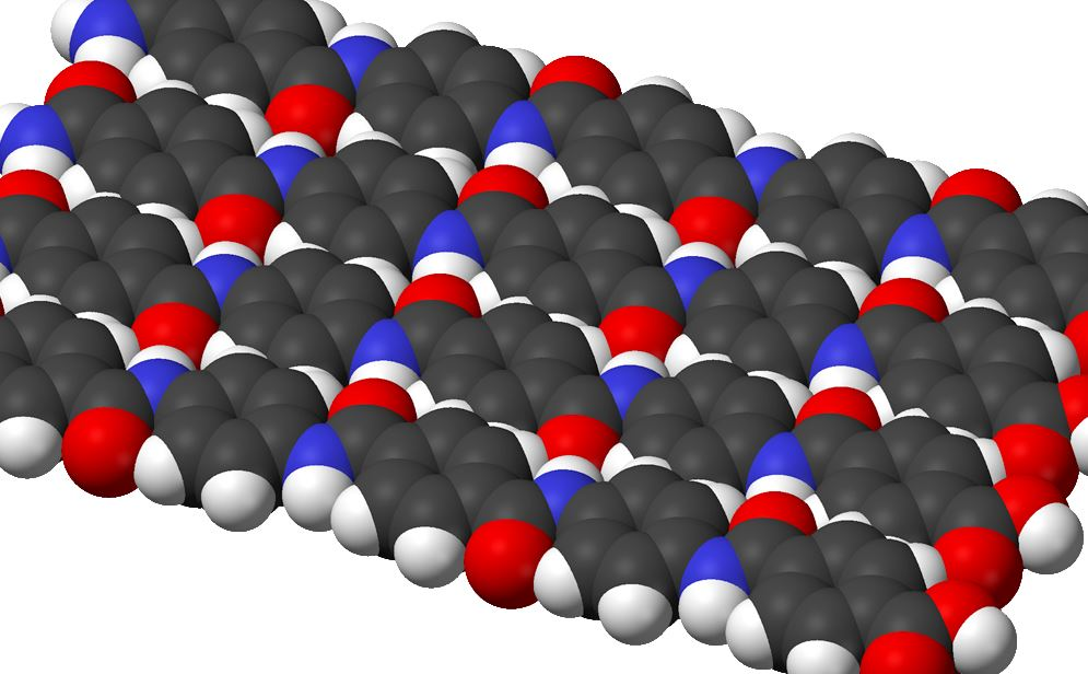 Molecules in a sheet of Kevlar.