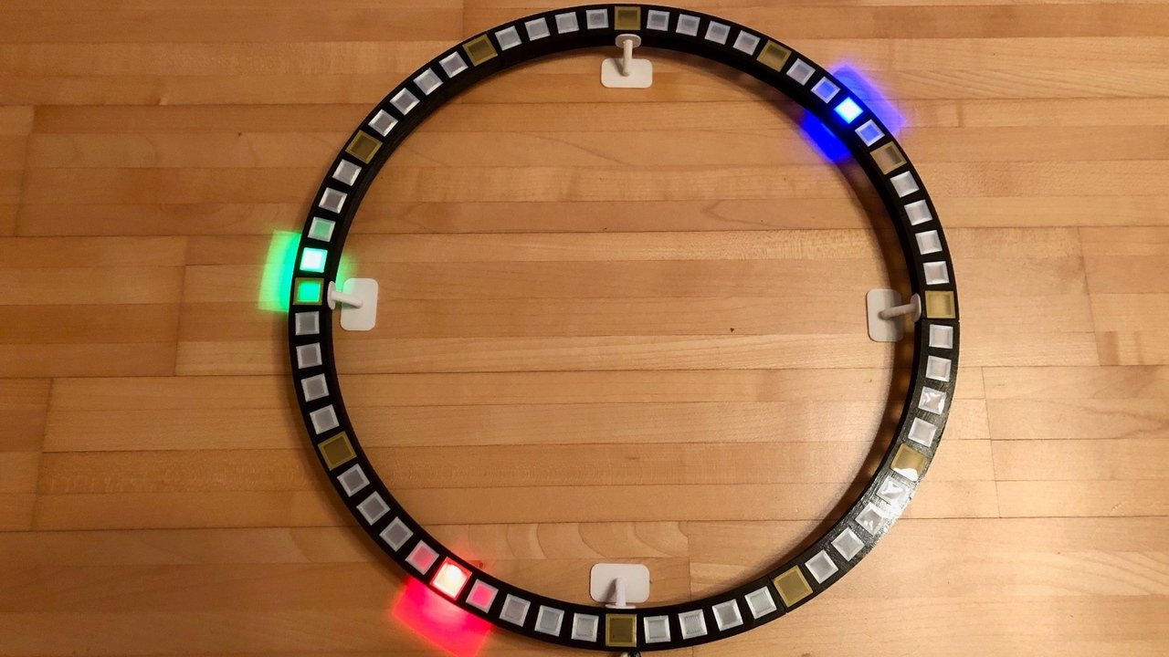 [Project] Wi-Fi Round LED Clock | All3DP