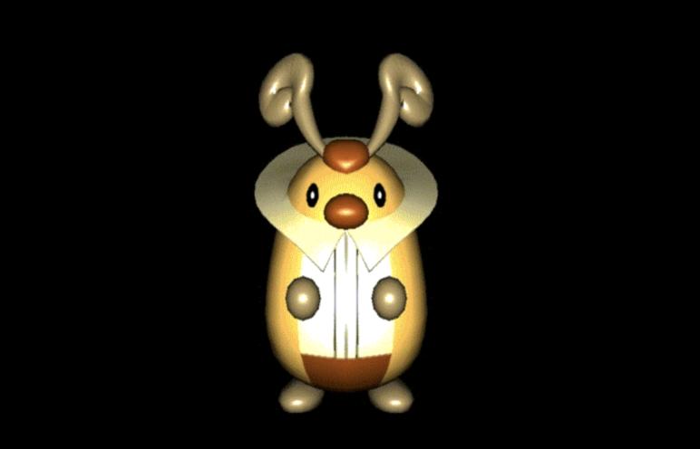 Kricketot Pokémon 3D model.