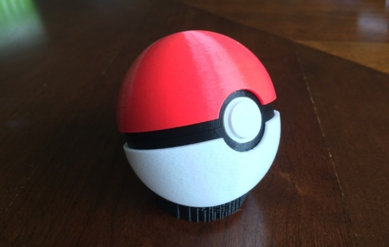 3D printed and painted Pokéball.