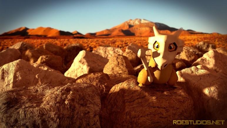 Cubone in the desert.