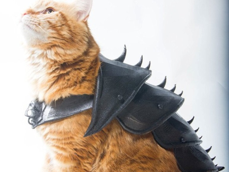 Even cats can have 3D printed armor.