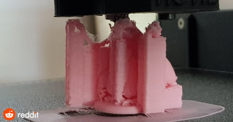 3D printing on an uneven object using Z offset can cause the initial object to be knocked off by accidental collision with the printhead.
