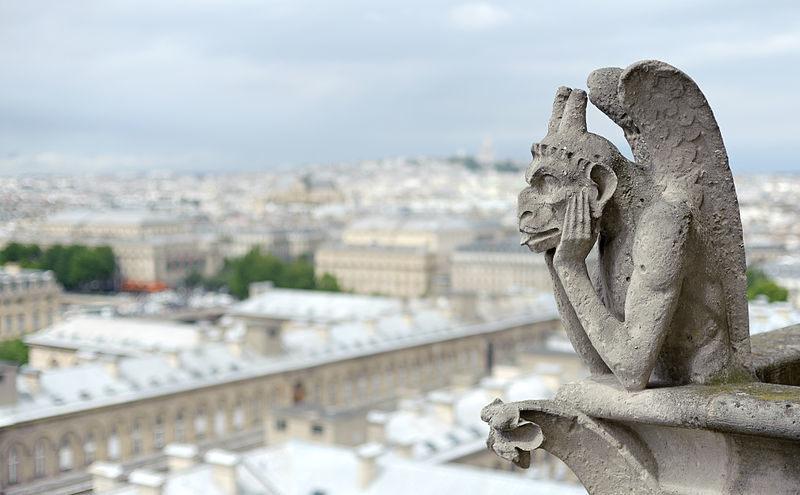 El Le Stryge original de Notre Dame