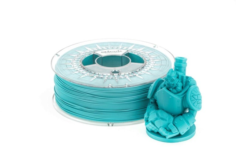 Turquoise PLA filament.