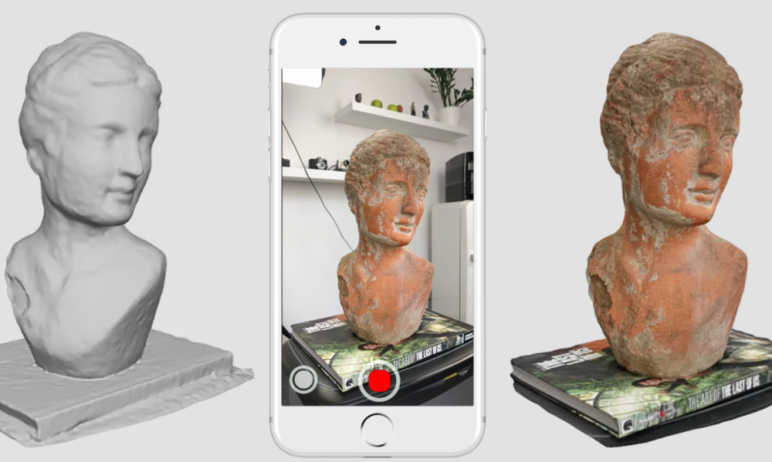 A 3D scanning app does all the work, right there on your smartphone.