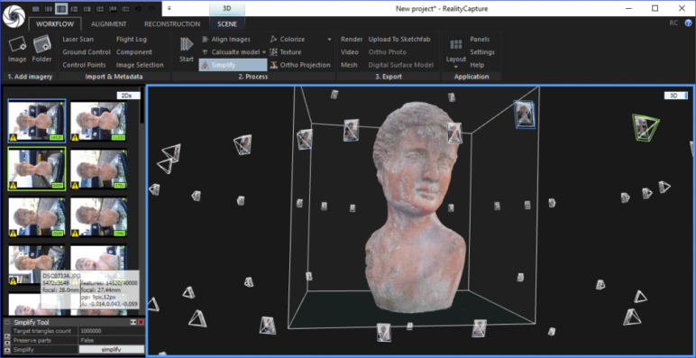 The magic of photogrammetry software stitches all the photos together for you.