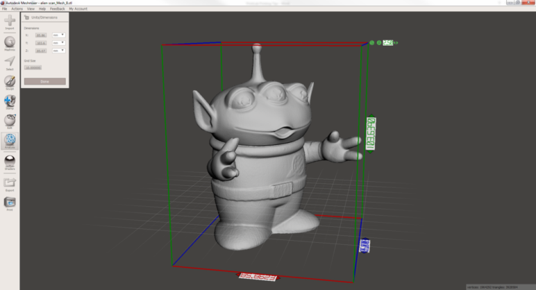 Meshmixer is a great program for cleaning up your 3D scan.