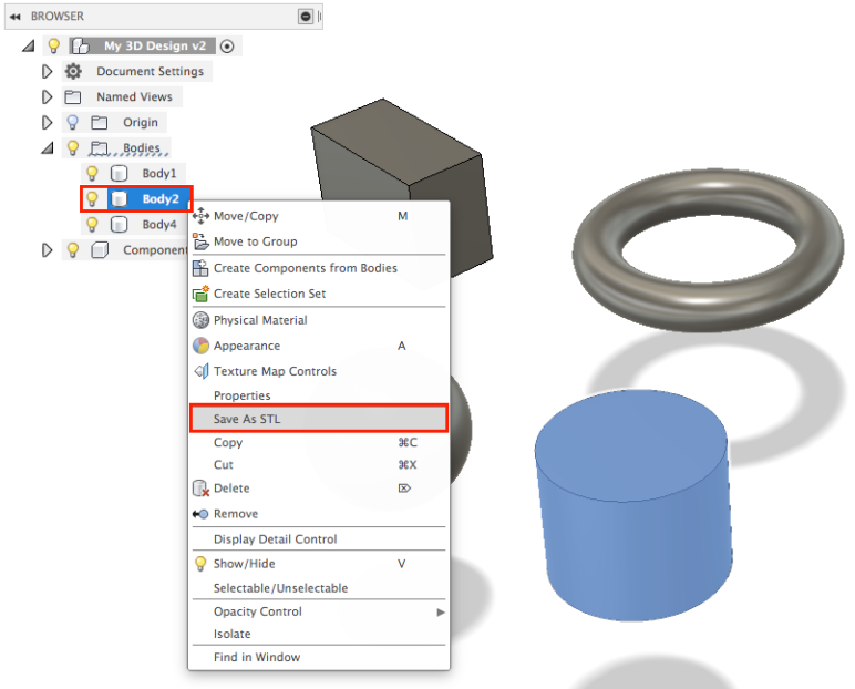 Fusion 360 – A Quick Tutorial on How to Export STL Files