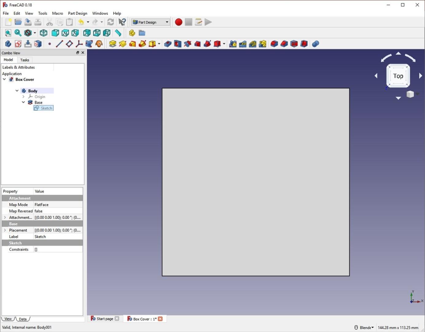 freecad tutorial lid pad