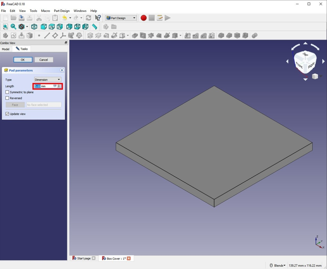 freecad tutorial lid second revolution pad