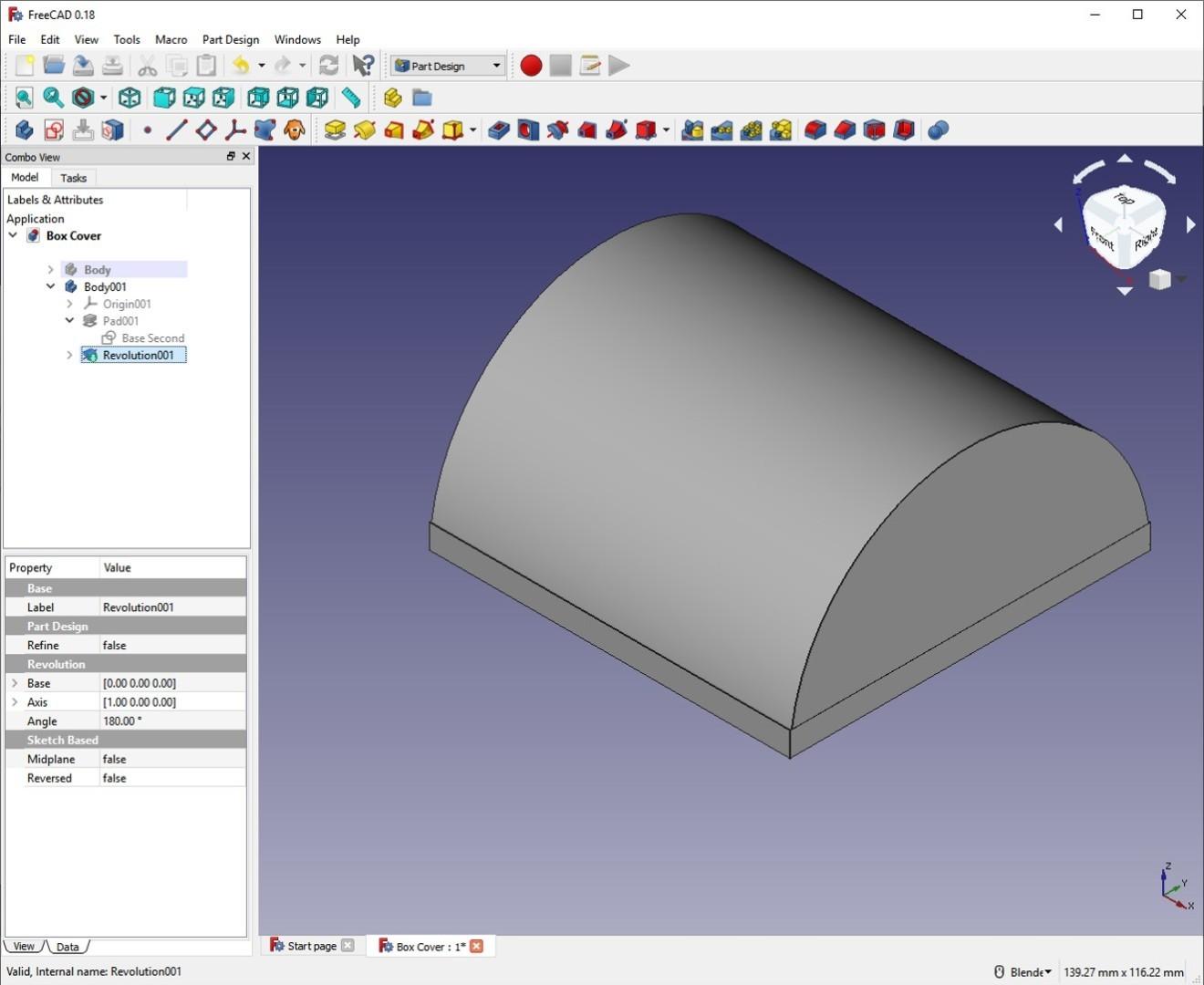 freecad tutorial second revolution lid