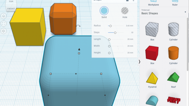 Tinkercad is a great platform for students to design their own 3D models.