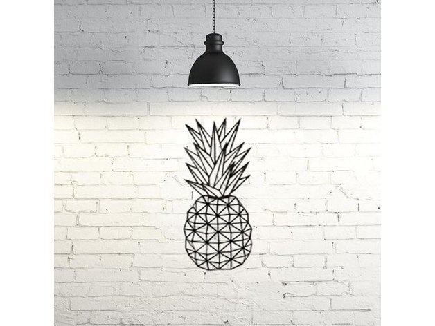 This pineapple is just one example of unique 2D wall art.
