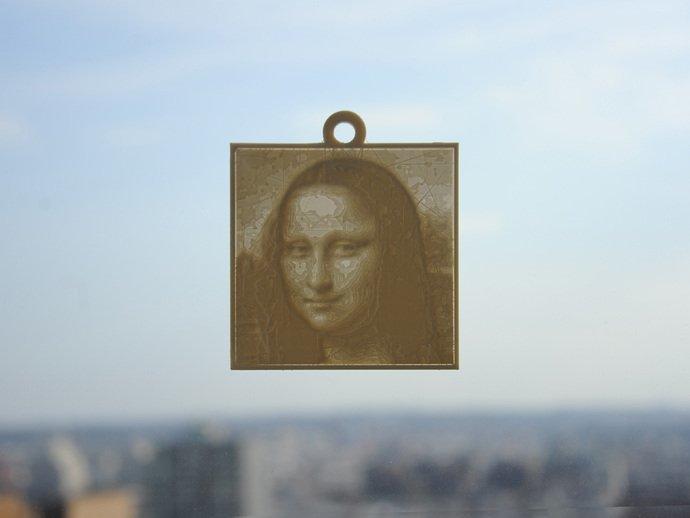 A Mona Lisa lithophane.