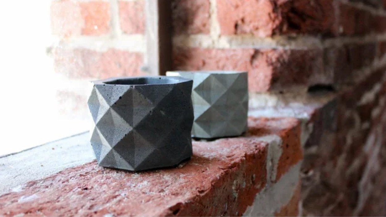 [Project] 3D Printed Geometric Concrete Pot Molds | All3DP
