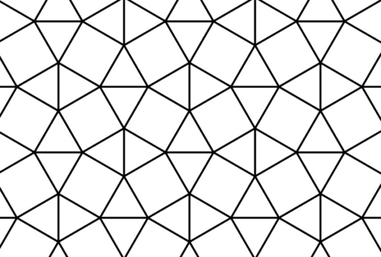 This is a picture of a triangular tesselation pattern often seen on STL objects.