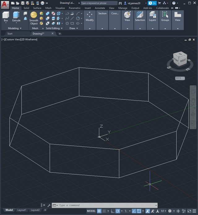 autocad polygon