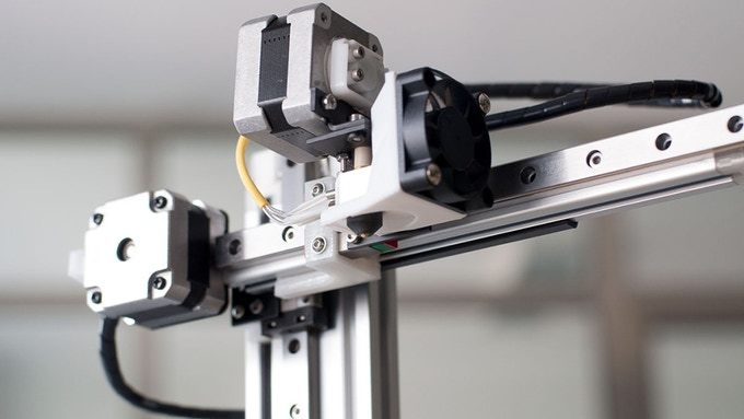 The Cetus 3D printer with linear rails.