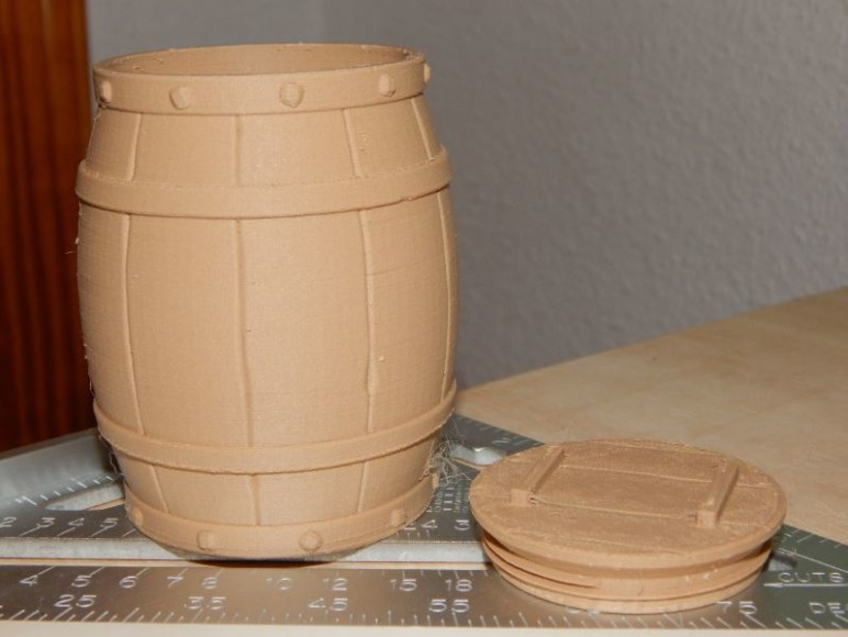 Our barrel, with lid detached.