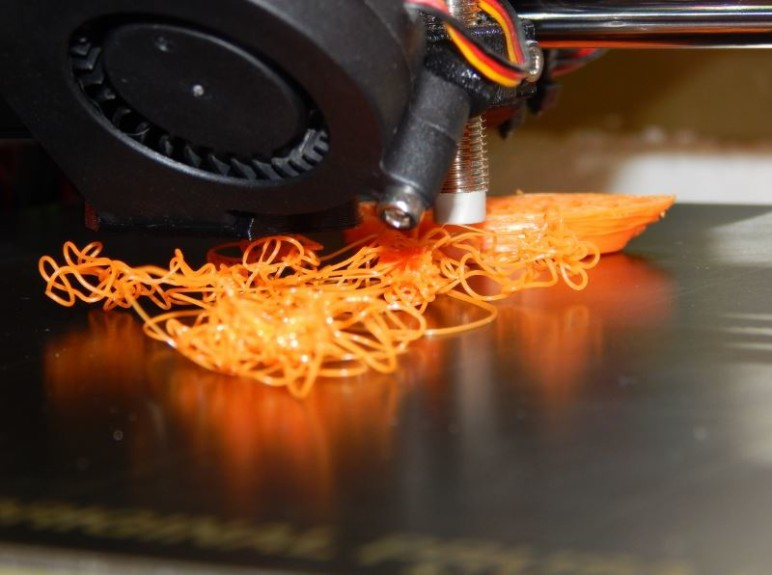 Printer Spaghetti - An unfortunate consequence of warping and improper adhesion.