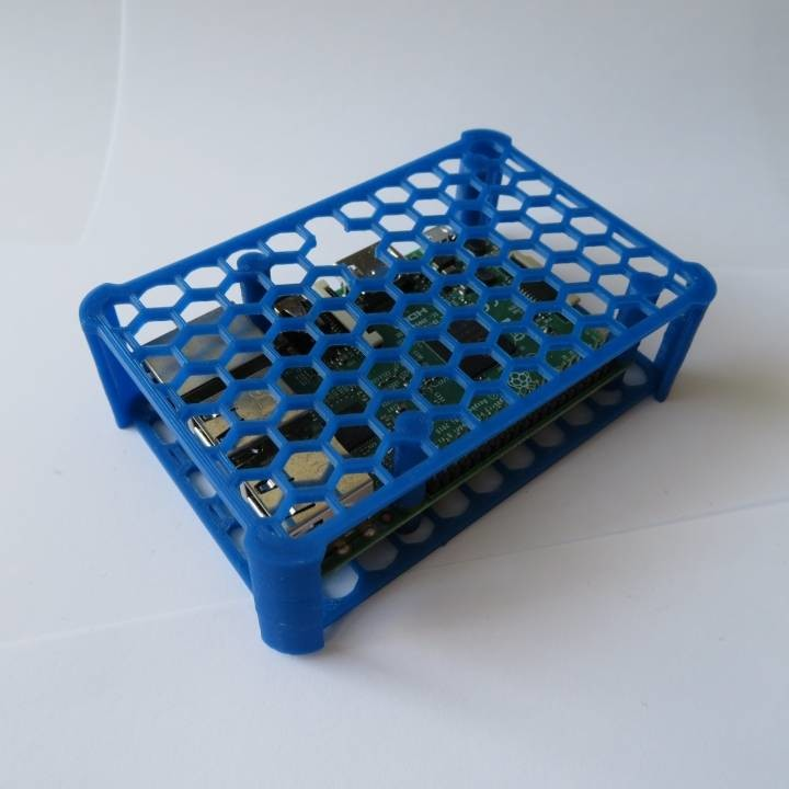 Image of Best Free Raspberry Pi 4 Cases to 3D Print: Honeycomb Raspberry Pi Case