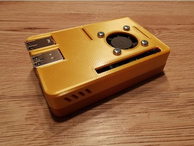 Image of Best Free Raspberry Pi 4 Cases to 3D Print: Raspberry Pi Snap Fit Fan Case