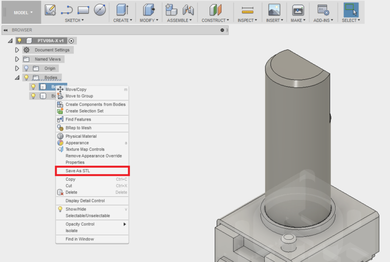 Manipulating 3D models in Fusion 360.