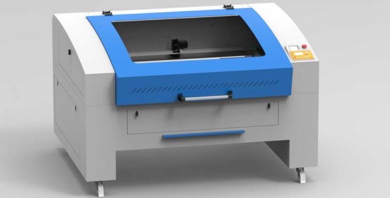 An example of a desktop laser engraving machine.