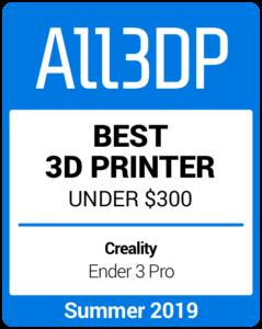 Meilleure imprimante3D à moins de 300$ de l'été 2019 Creality Ender 3 Pro
