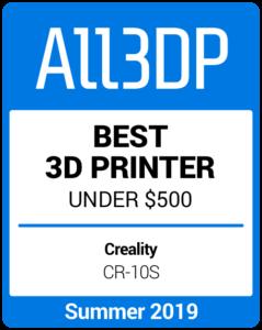 Best 3D Printer under $500 Summer 2019 Creality CR-10S