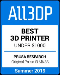 Best 3D Printer under $1000 Summer 2019 Prusa i3 Mk3S