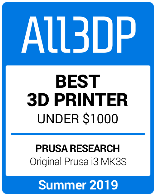 Best 3D Printer under $1000 Summer 2019 Prusa i3 Mk3S