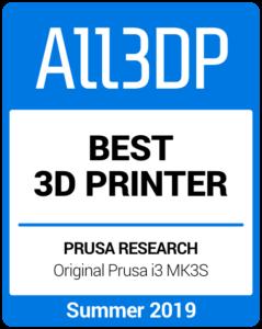 Best 3D Printer Summer 2019 Prusa i3 Mk3S