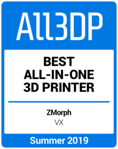 Best All-in-One 3D Printer Summer 2019 Zmorph VX