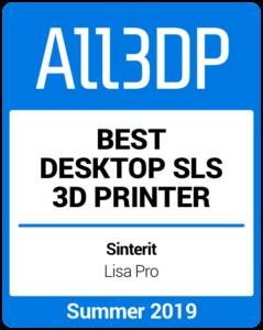 Bester Desktop-SLS-3D-Drucker im Sommer 2019 Sinterit Lisa Pro